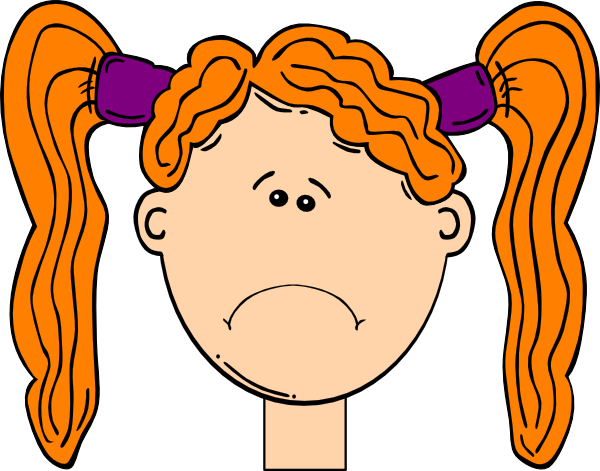 frowning red head girl clip art at clker com vector clip art rh clker com frown clipart black and white frown mouth clipart