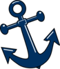 Tilted Anchor With Point Clip Art