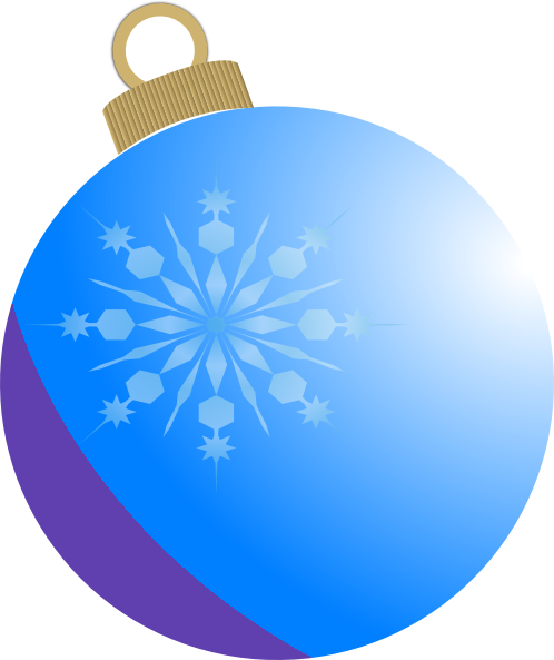 Blue Christmas Ball Ornament Clip Art at Clker.com ...