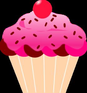 pink cupcake clip art at clker com vector clip art online royalty rh clker com Purple Cupcake Clip Art Cartoon Cupcakes