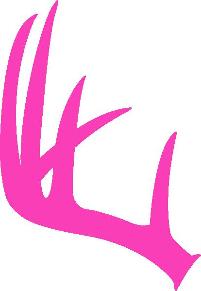 Pink Antler Clip Art at Clker.com - vector clip art online ...