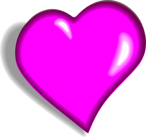 Pink Heart Clip Art at Clker.com - vector clip art online, royalty ...