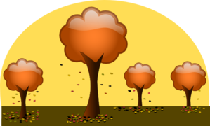 Trees With Leaves Falling Clip Art