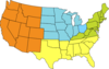 Four-region U.s. Map Clip Art
