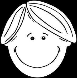 boy black amp white clip art at clkercom vector clip art