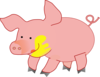 Big Happy Pig Clip Art