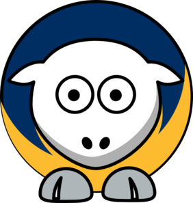 Sheep Buffalo Sabres Team Colors Clip Art
