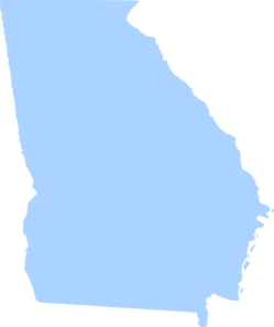 Georgia Light Blue Clip Art