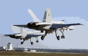 Hornets Make A Dual Runway Take-off While Conducting Multinational Operations In Pula, Croatia, During Multinational Operations In The Region Clip Art