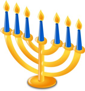 Hanukkah Candles Clip Art