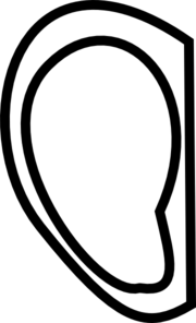 Right Ear Clip Art at Clker.com - vector clip art online ...