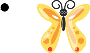 Butterfly With Glasses Clip Art