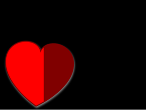 Heart On Black 3 Clip Art