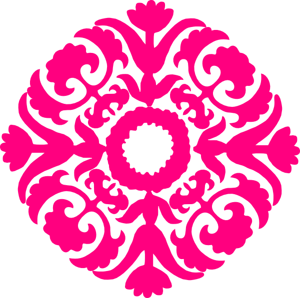 hot pink damask flourish clip art at clker com vector clip art rh clker com