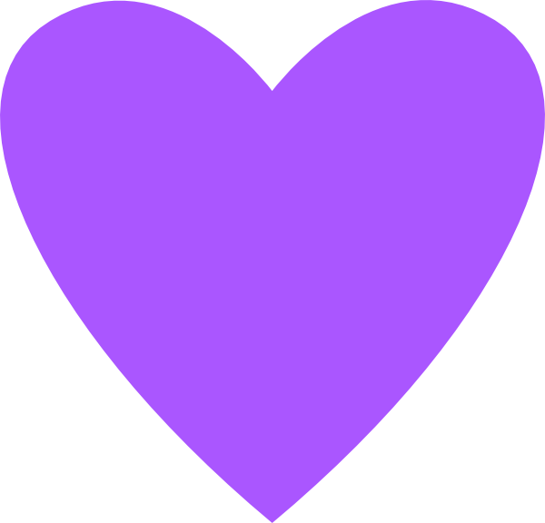 Heart Purple Clip Art at Clker.com - vector clip art ...