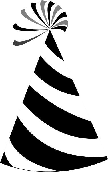 Black And White Party Hat Clip Art at Clker.com - vector clip art ...