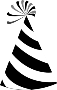 Black And White Party Hat Clip Art