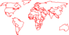 Black Red Outline World Map No Background Clip Art
