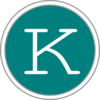 K Icon Teal Clip Art