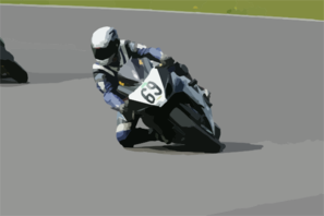 Speeding Motorcycle Race Clip Art