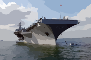 Uss Harry S. Truman (cvn 75) Anchors Out Of Portsmouth, England, While Her Sailors And Marines Enjoy Liberty During The Port Visit Clip Art