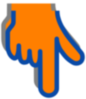 Pointing Finger- Orange Clip Art