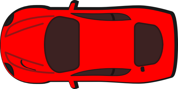 Red Car - Top View - 180 Clip Art at Clker.com - vector ...
