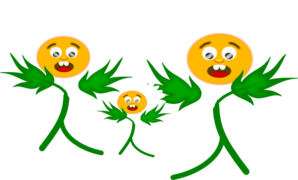 Scared Daisies Clip Art