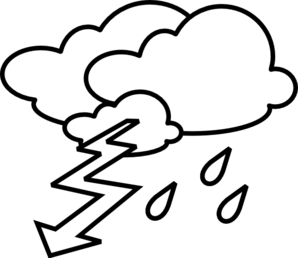 Stormy Outline Clip Art