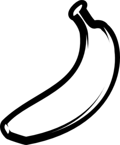 Banana Clip Art Black And White Banana Outline ...