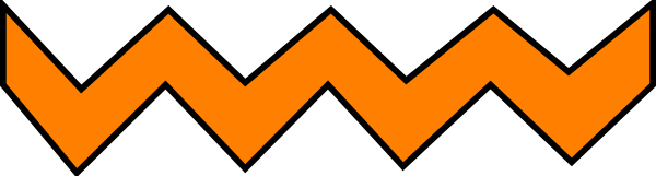 Zigzag Line Clipart : Orange zig zag clip art at clker vector