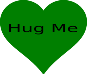 Green Hug Me Heart Clip Art
