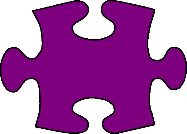 Barney-purple Jigsaw Puzzle Piece Large Clip Art at Clker ...