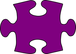 Barney-purple Jigsaw Puzzle Piece Large Clip Art