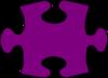 Barney-purple Jigsaw Puzzle Piece Large Clip Art