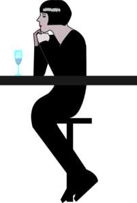 Woman At A Bar Clip Art