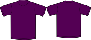 Plain Tshirt Purple Clip Art