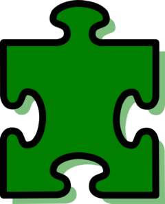 Green Puzzle Piece 3 Clip Art