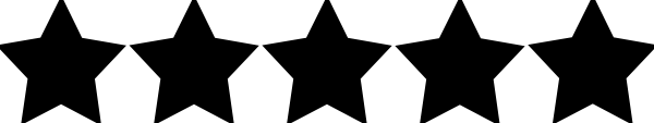Image result for five star rating black