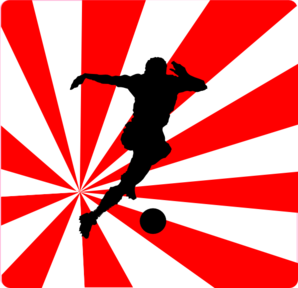 Soccer Player2 Clip Art