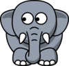 Elephant Looking Left Clip Art