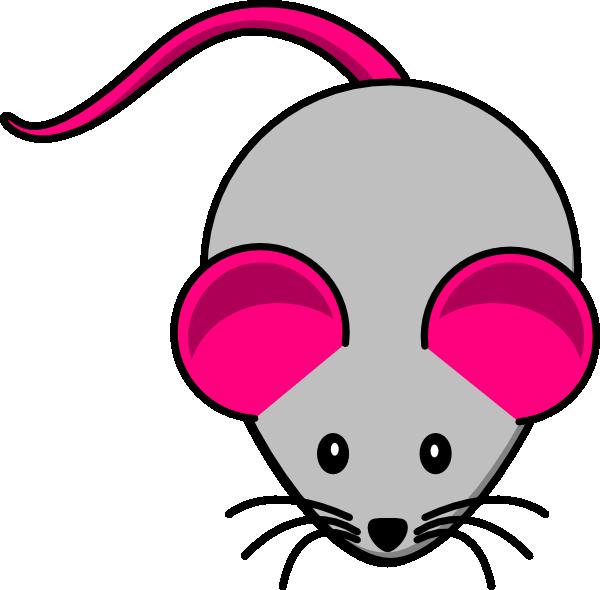 grey pink mouse clip art at clker com vector clip art online rh clker com