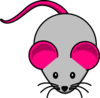 Grey Pink Mouse Clip Art