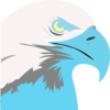 Light Blue Eagle Clip Art