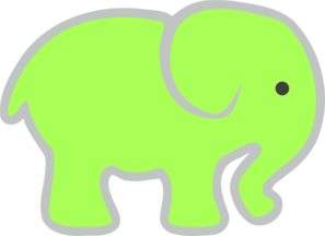 Green Ellie Clip Art at Clker.com - vector clip art online ...