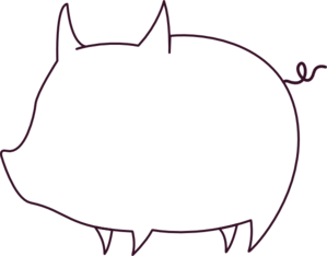 Pig outline. Clip art at clker