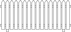 white picket fence colouring pages