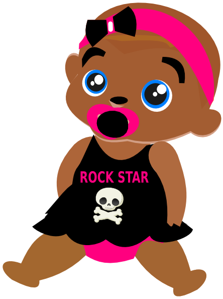 Rock Star Baby Clip Art At Clker Com Vector Clip Art