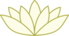 Cream Green Lotus Clip Art