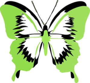 Green Black Butterfly Clip Art